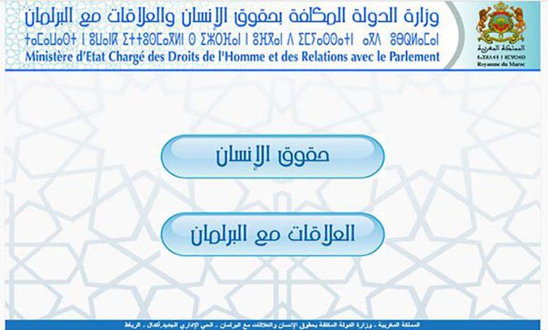 وزارة الدولة المكلفة بحقوق الإنسان والعلاقات مع البرلمان